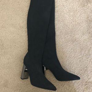Zara thigh high boots